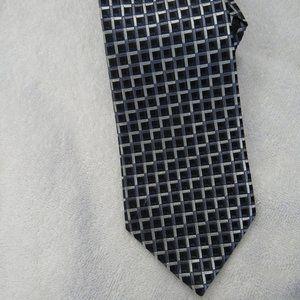 Geoffrey Beene 100% Silk Tie Geometric Necktie